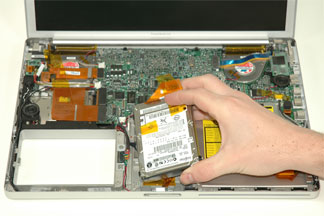 Powerbook opened