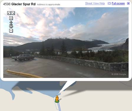 Glacier on Google Maps