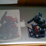 Optimus and Megitron Vinyl Sticker