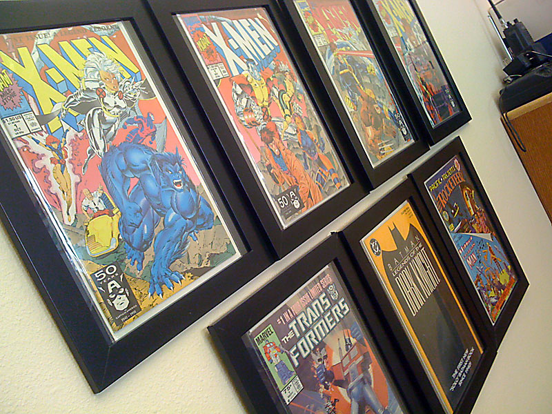 Ikea comic book photo frame hack yoshicast for a while now i have been wanting to find a way to show off my comic book collection in my office i had done a lot of searching online for comic solutioingenieria Choice Image