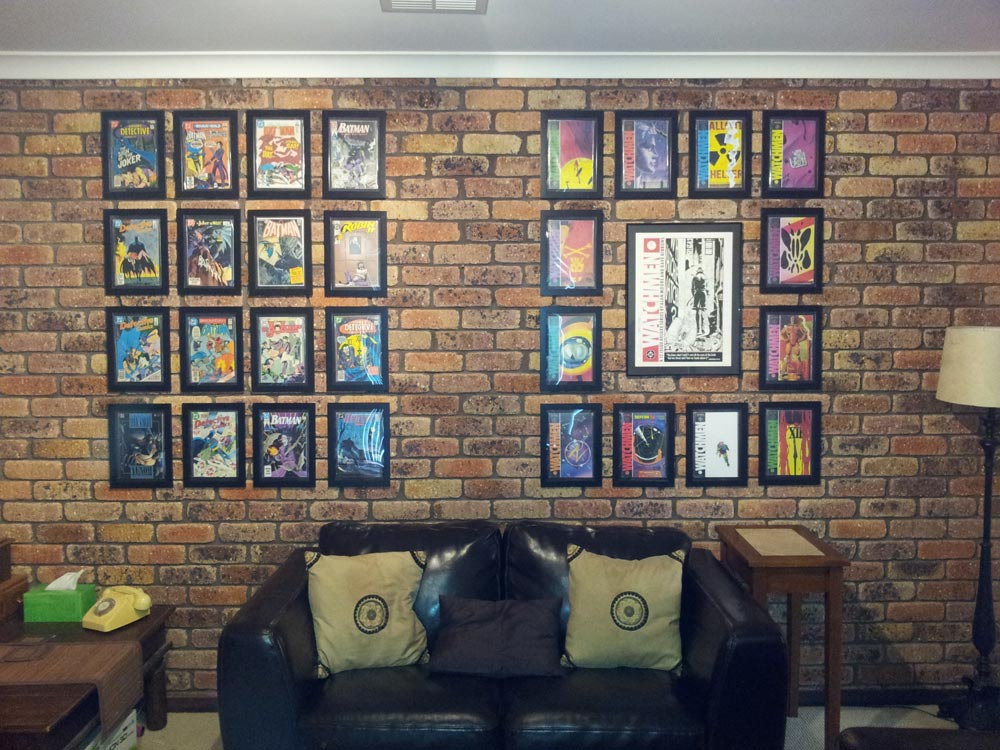 comics framed in australia