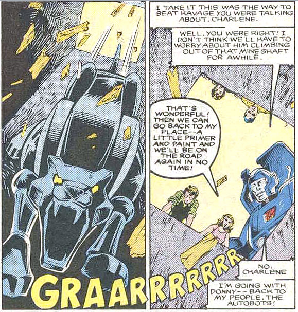 Transformers-issue-20-Ravage-Fall