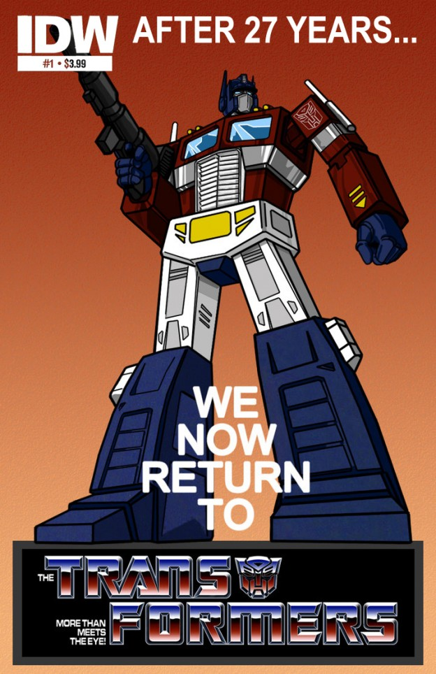 Bring Back the Transformers Generation One Cartoon as a New IDW Comic