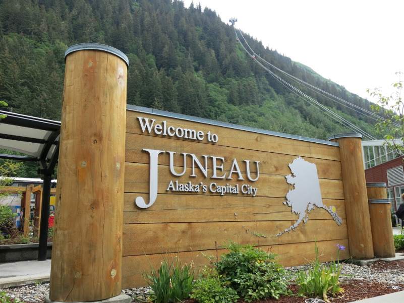 Juneau Alaska Welcome Sign