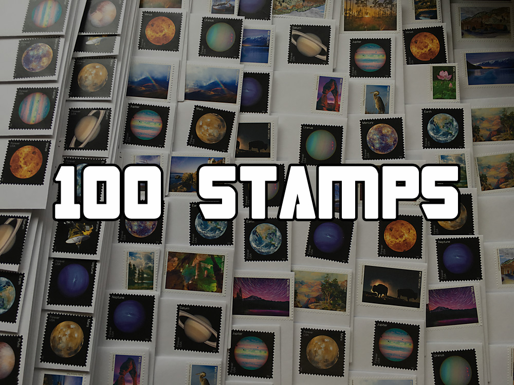 100 Stamps